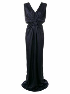 Rhea Costa front knot gown - Blue