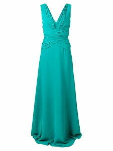 Rhea Costa classic ruched gown - Green