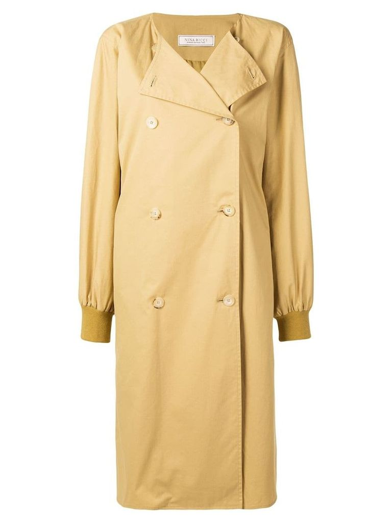 Nina Ricci double-breasted trench coat - Neutrals