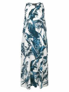 Sport Max Code parrot printed dress - White