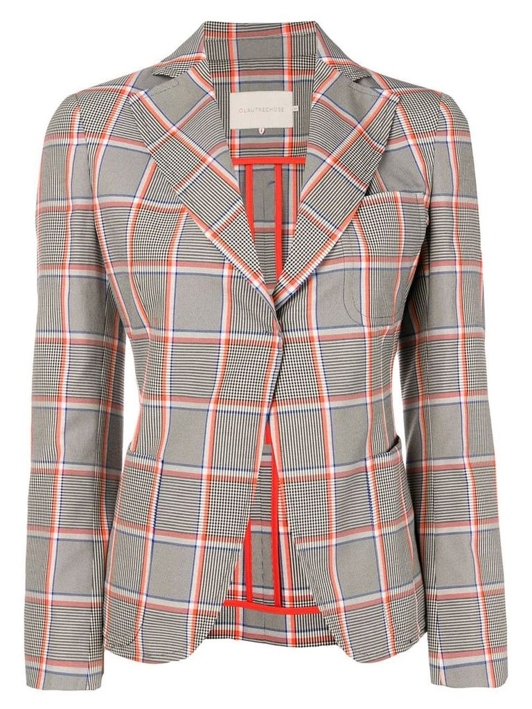 L'Autre Chose check blazer - Black