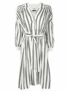 Frei Ea striped shirt dress - White