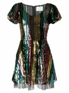 Athena Procopiou rainbow sequin dress - Black