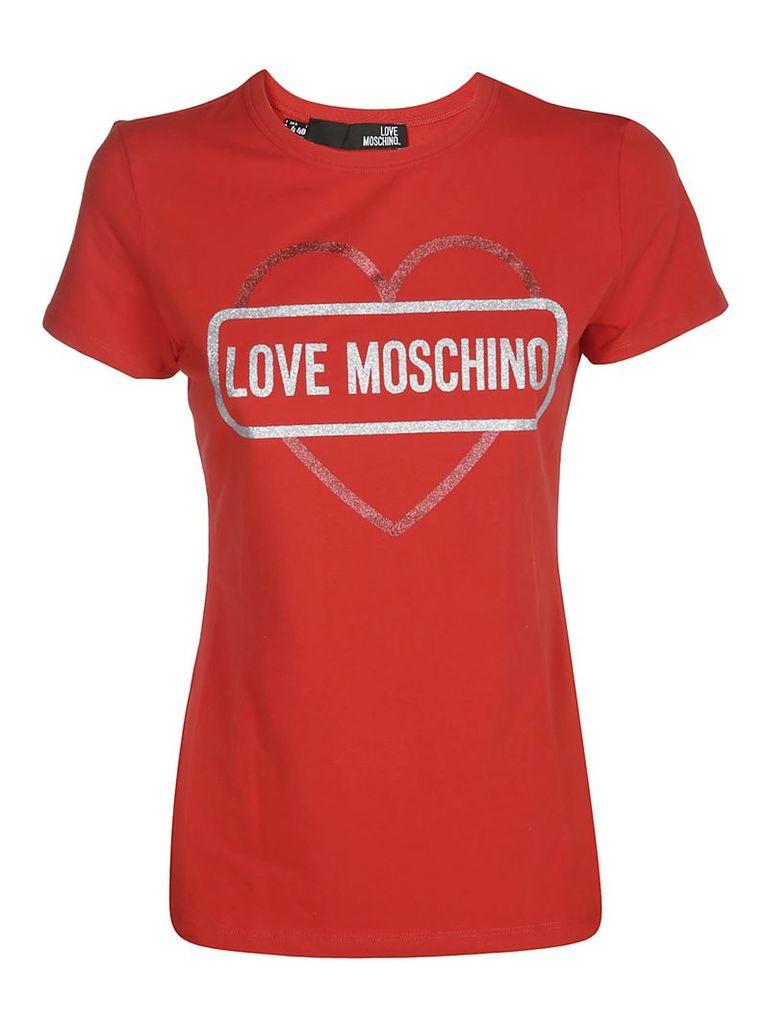 Love Moschino Logo Heart Print T-shirt