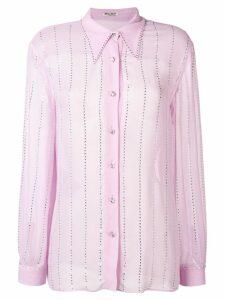 Miu Miu pointed collar embellished shirt - Purple