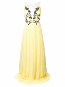 Rhea Costa embellished corset gown - Yellow