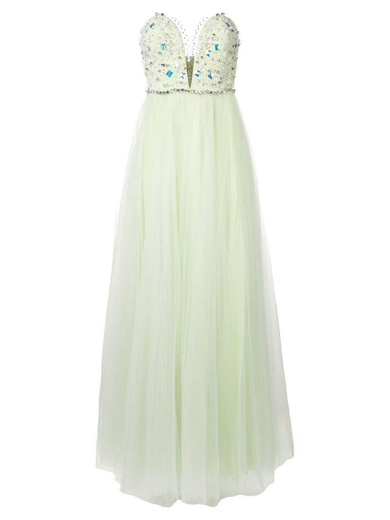 Rhea Costa embellished corset gown - Green