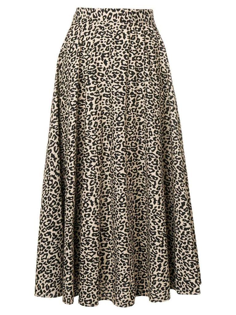 Liu Jo leopard print midi skirt - Neutrals
