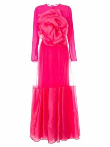 Costarellos floral embellished maxi dress - Pink