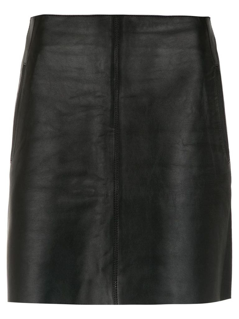 Egrey leather skirt - Black