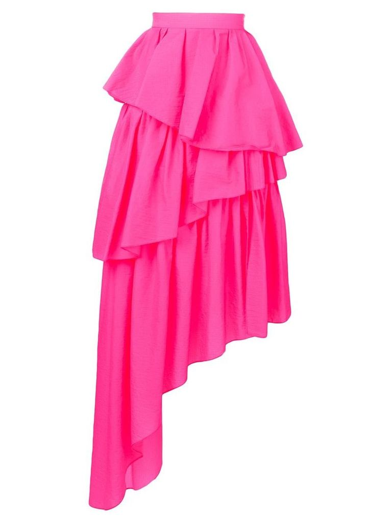 HOUSE OF HOLLAND asymmetric midi skirt - Pink