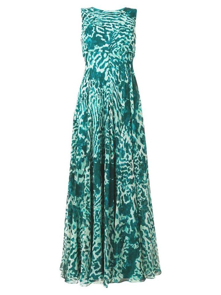 Max Mara silk georgette dress - Green