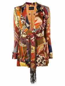 Etro belted jacket - Brown