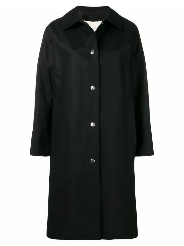 Mackintosh Black Storm System Linen Coat LM-079ST/P