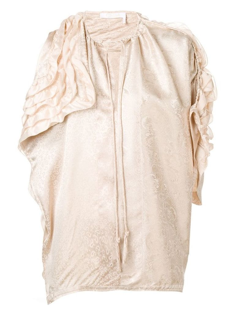 Chloé ruffle blouse - Neutrals
