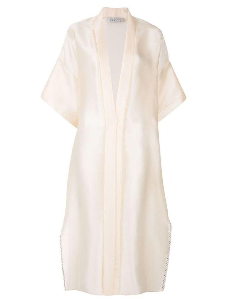 Abadia lightweight Silk Organza Coat - Neutrals