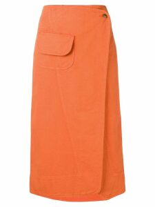 Henrik Vibskov Coco wrap denim skirt - Orange