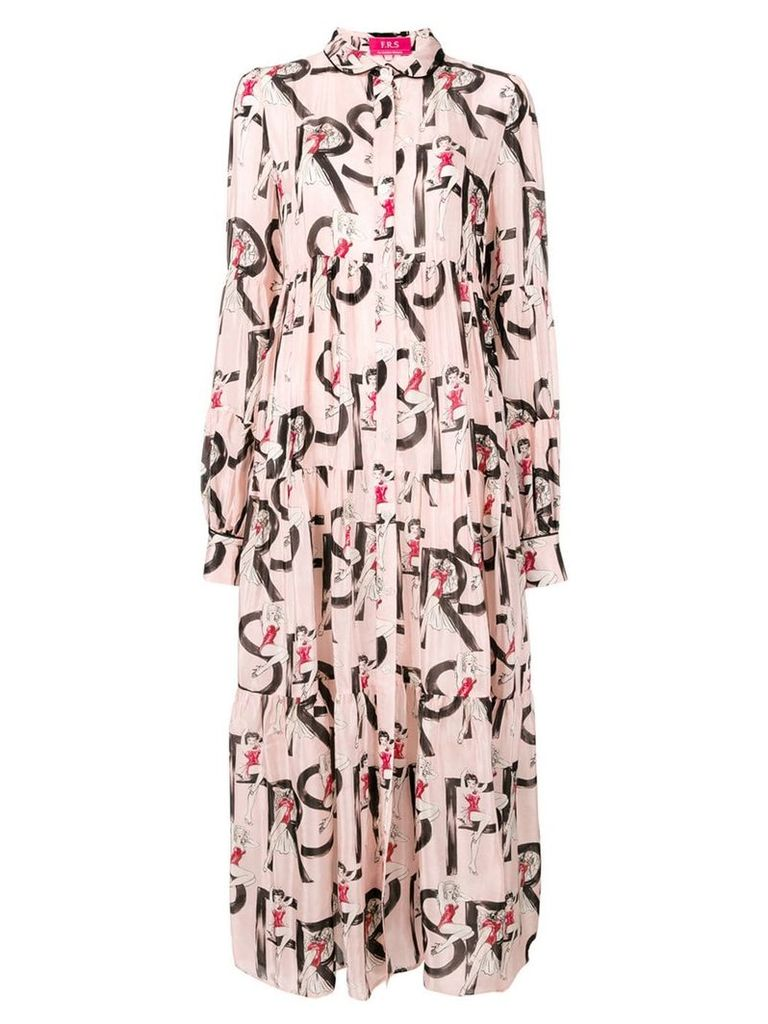 F.R.S For Restless Sleepers printed dress - Pink