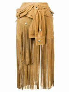 Faith Connexion jacket detail skirt - Neutrals