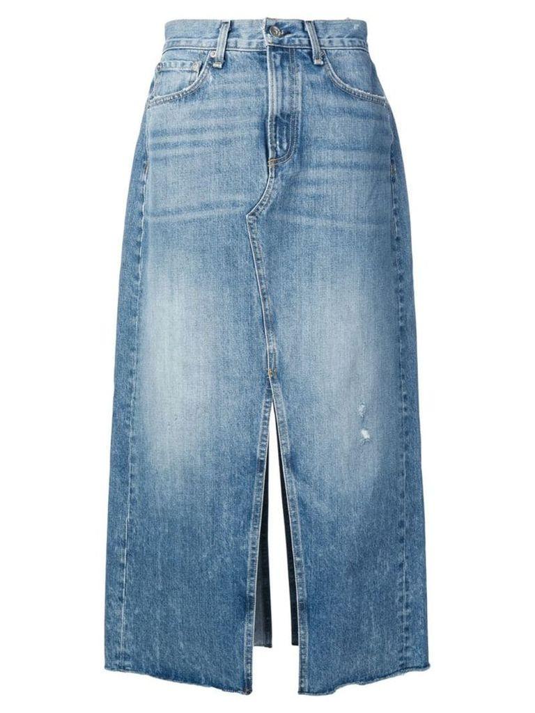 Rag & Bone mid-length denim skirt - Blue