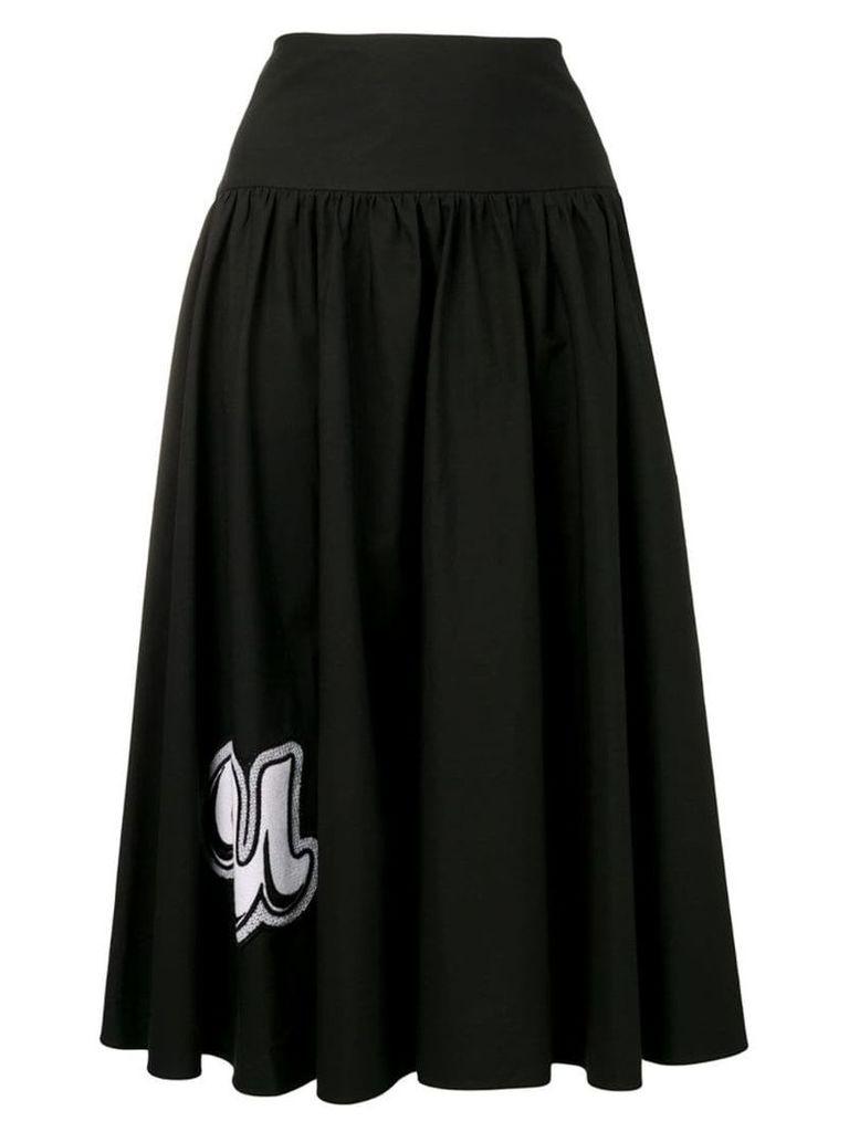 Pinko embroidered full skirt - Black