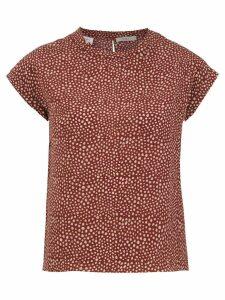 Egrey printed silk blouse - Brown