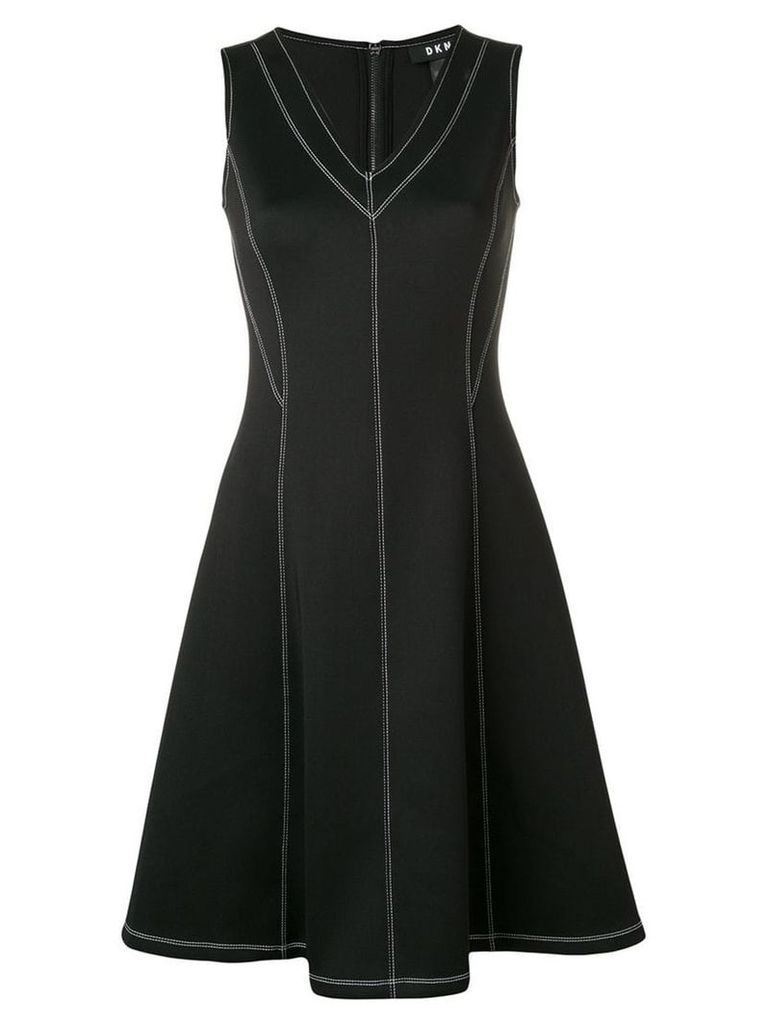 DKNY stitch detail dress - Black
