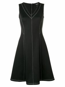 DKNY stitch detail dress - Black