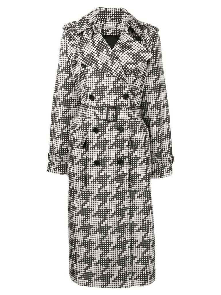 Bottega Veneta dot print trench coat - Black