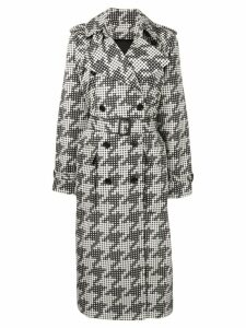 Bottega Veneta dot print trench coat - Black