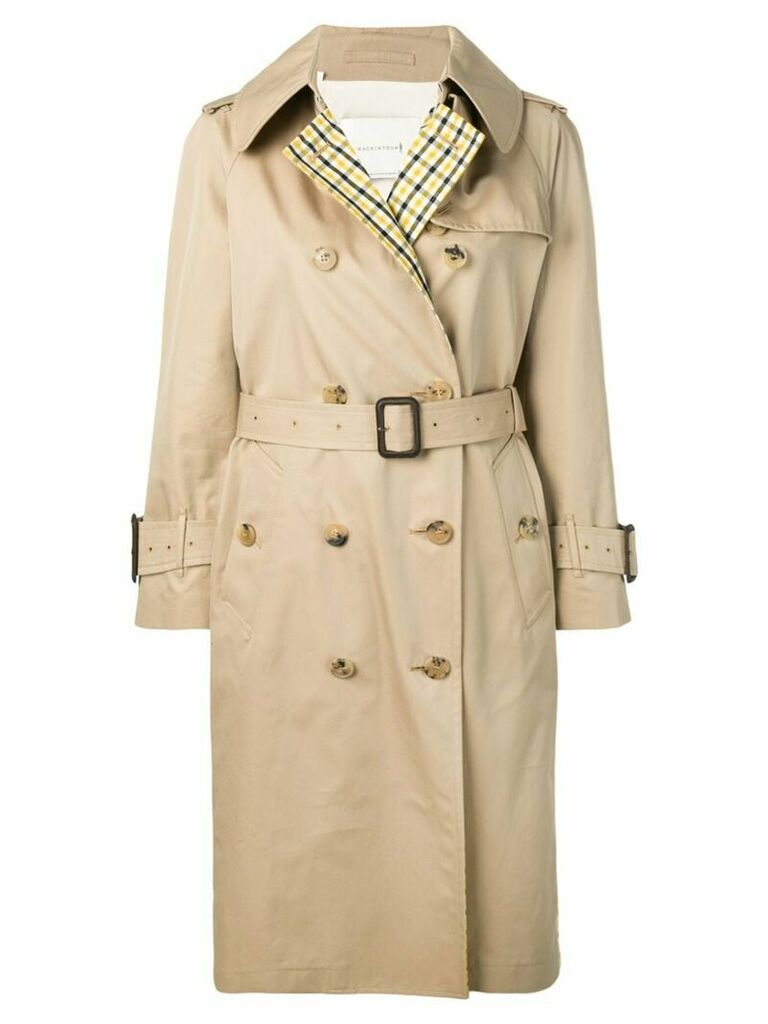 Mackintosh Honey Colour Block Trench Coat LM-062BS/CB - Neutrals