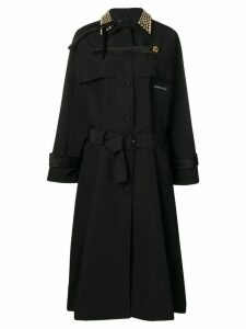 Prada studded collar trench coat - Black
