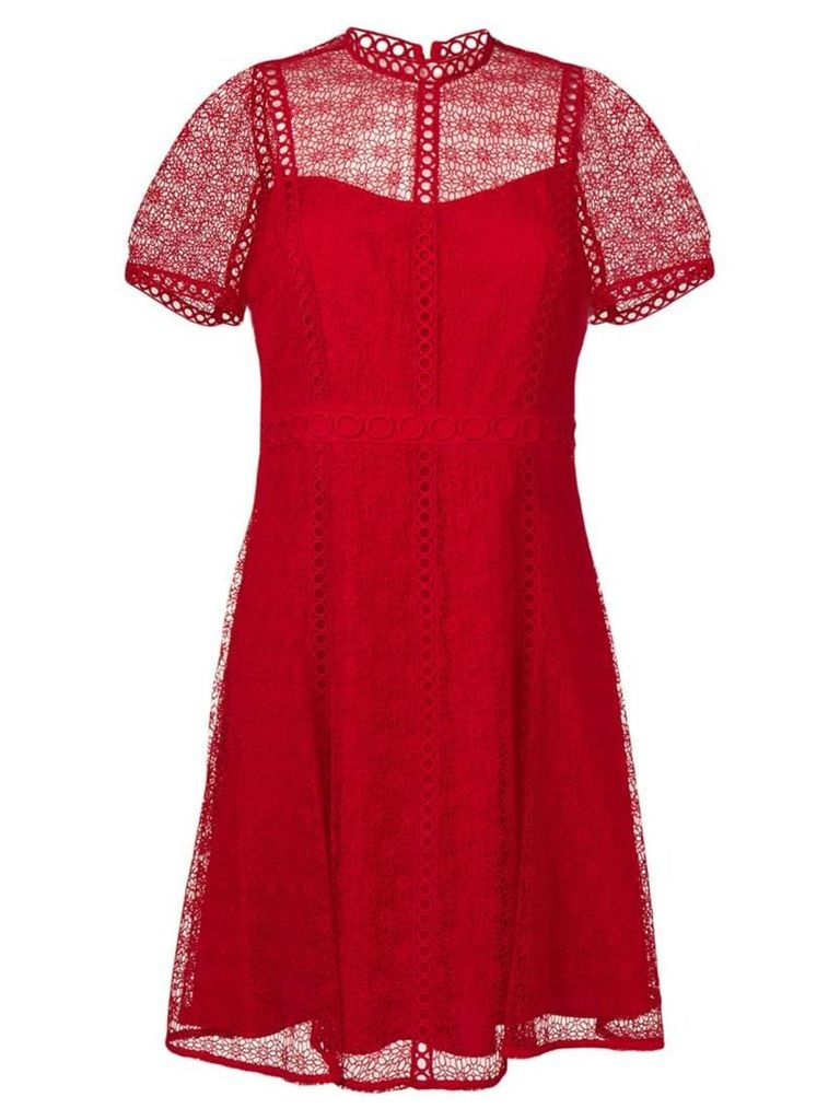 Michael Michael Kors floral lace dress - Red