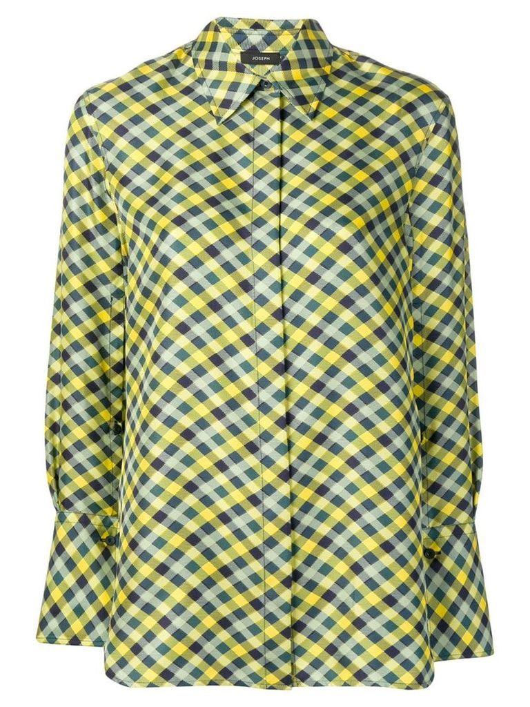 Joseph check shirt - Yellow