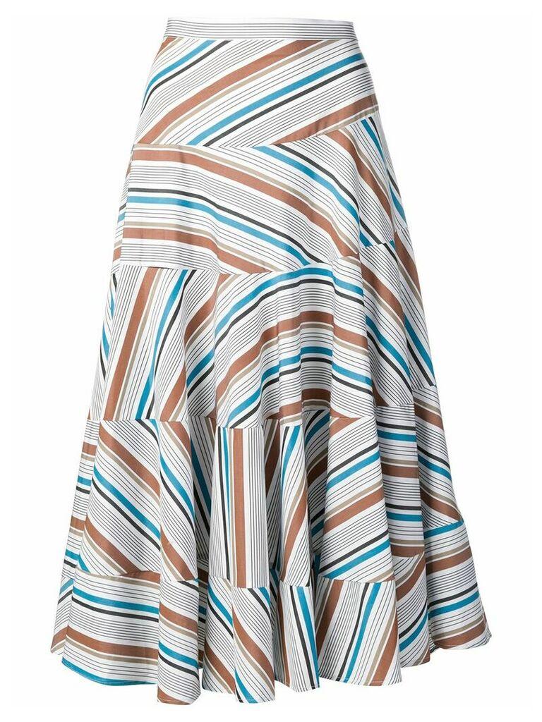 Isa Arfen pleated A-line skirt - White