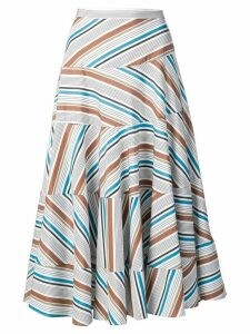 Isa Arfen pleated A-line skirt - White
