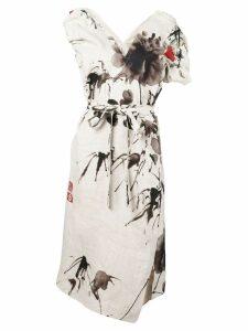 Vivienne Westwood floral print slit dress - Neutrals