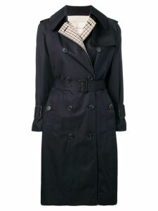 Mackintosh Ink Colour Block Cotton Trench Coat LM-062BS/CB - Blue