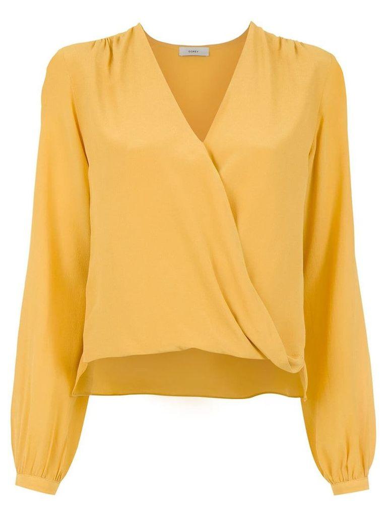 Egrey silk blouse - Yellow