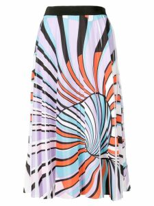 Emilio Pucci printed pleated skirt - Purple