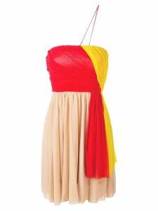 MSGM asymmetric ruffle dress - Red