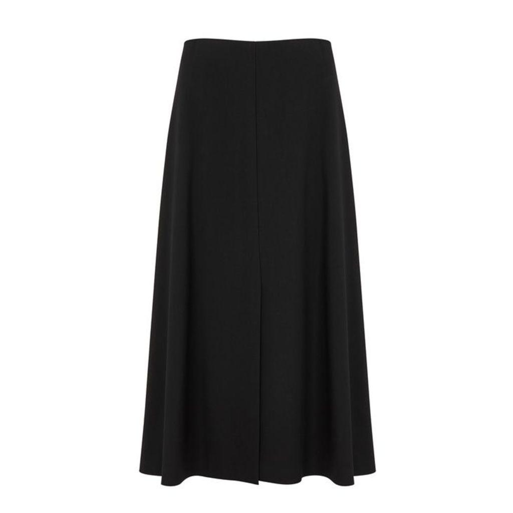 THE ROW Bea Black Stretch-cady Skirt