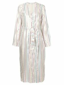 Attico metallic stripe dress - Neutrals
