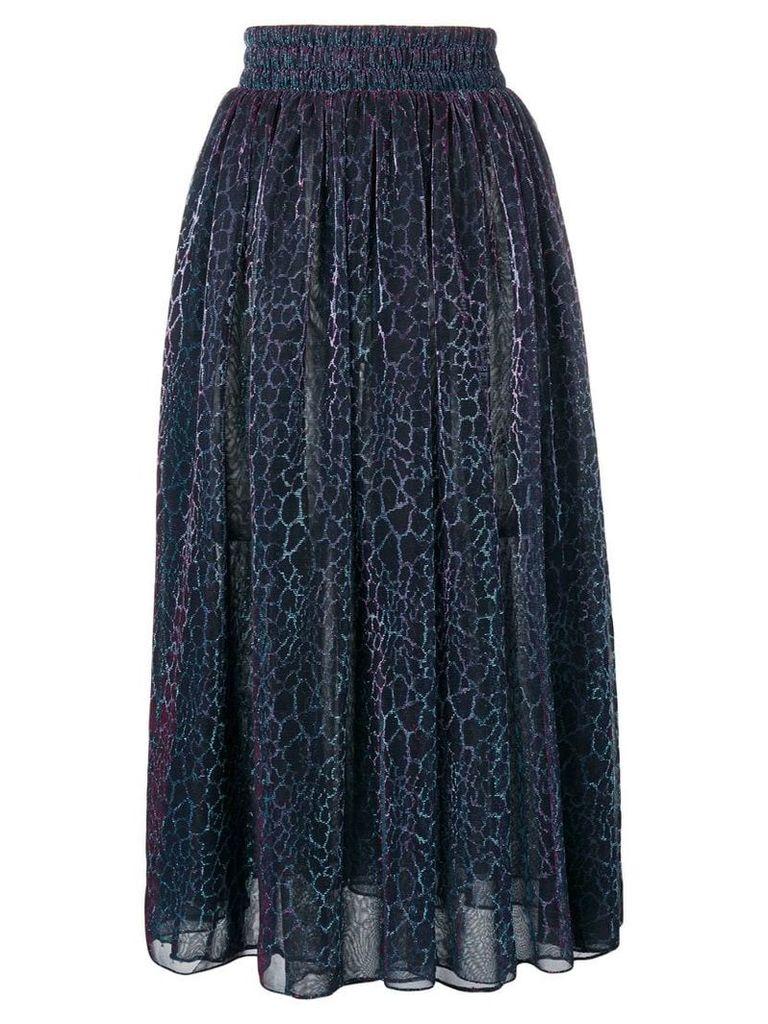 Christopher Kane animal iridescent skirt - Black