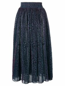 Christopher Kane animal iridescent skirt - Black