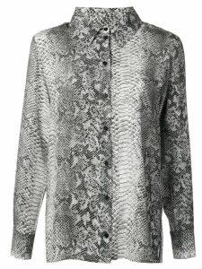 Gold Hawk python print blouse - Grey