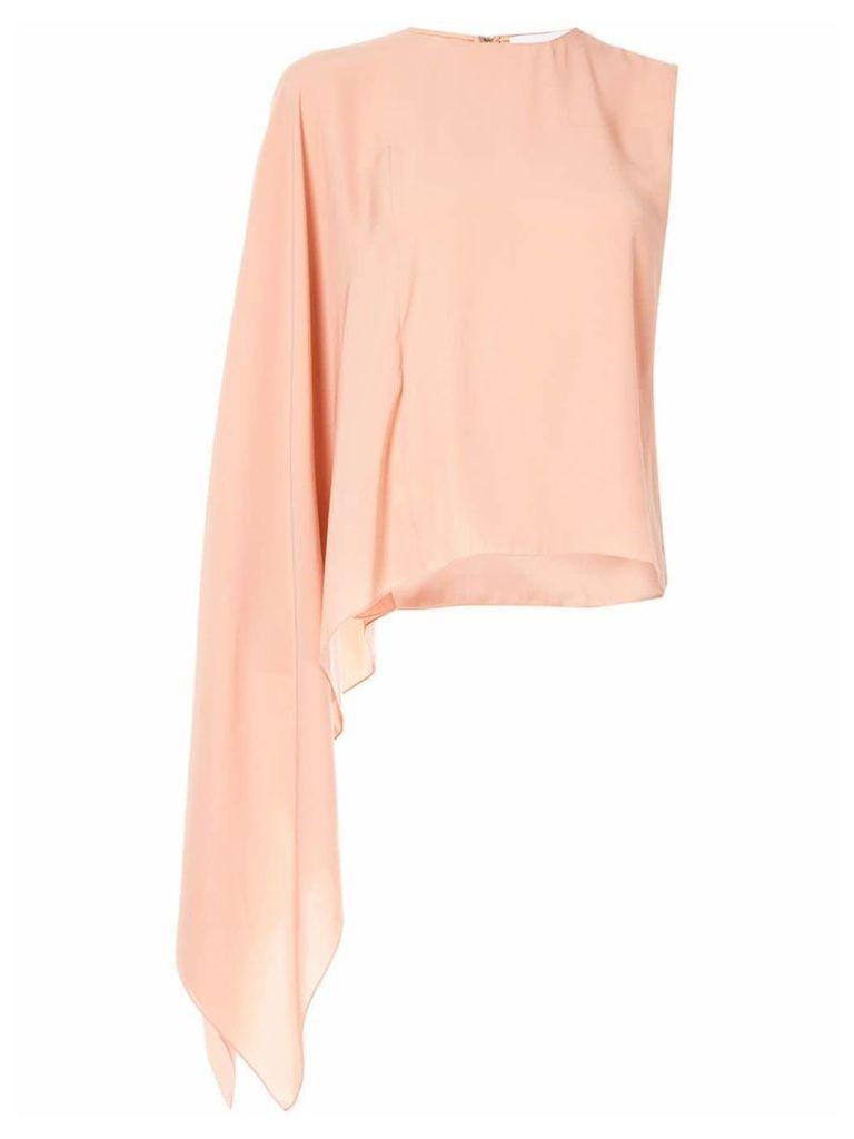 Noon By Noor asymmetric one sleve top - Pink