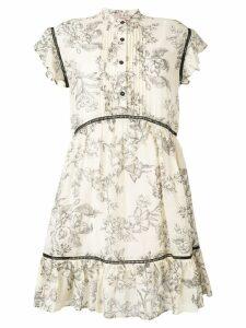 Twin-Set printed pleat dress - Neutrals