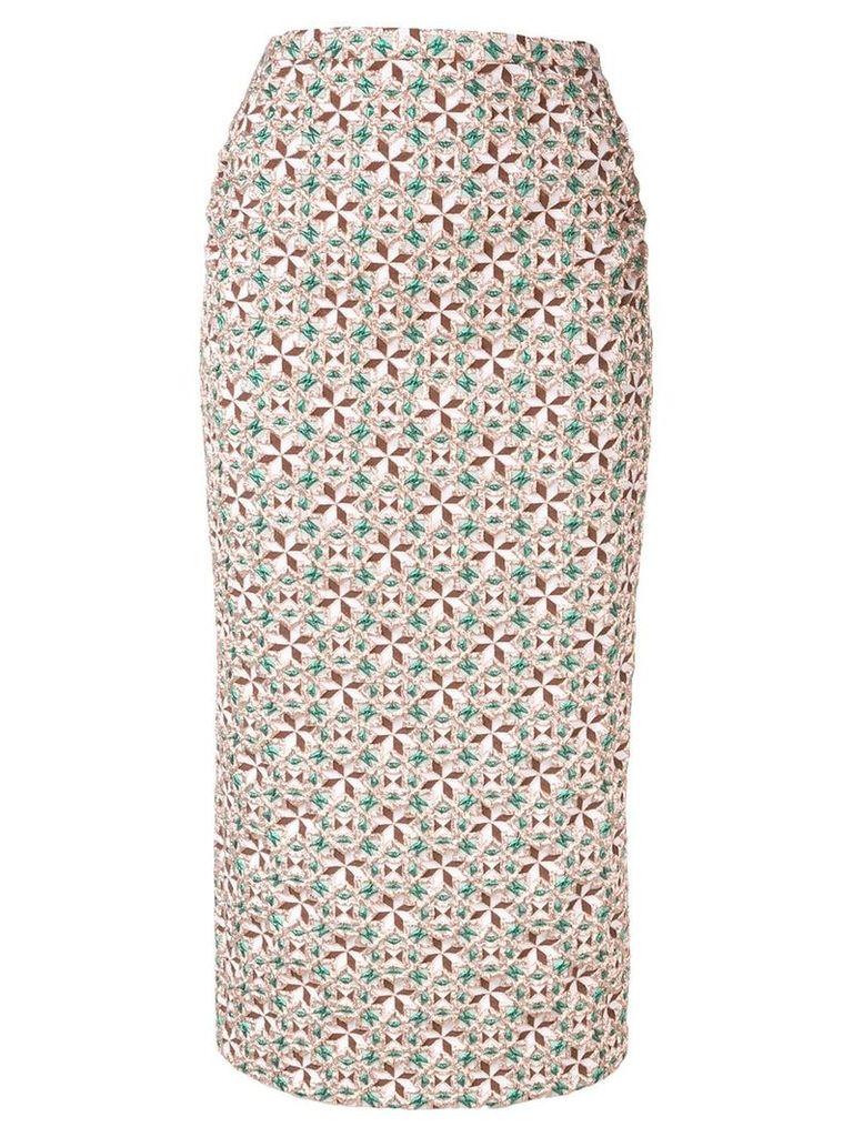 Nº21 geometric print skirt - Neutrals