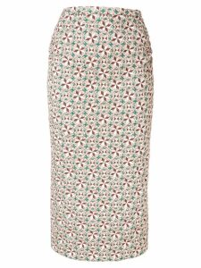 Nº21 geometric print skirt - Neutrals